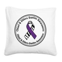 Chiari EDS Awareness Ribbon Square Canvas Pillow by ...