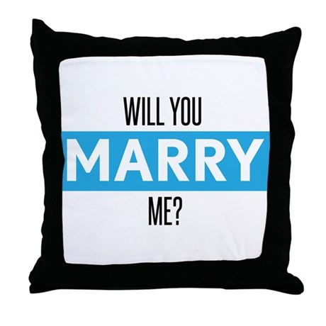 Will You Marry Me Throw Pillow By Cuteandcompany