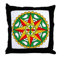 Rain, Sun Fertility Hex Throw Pillow by jkmerchandising