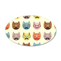 Hipster Cats Wall Decal by FuzzyChair