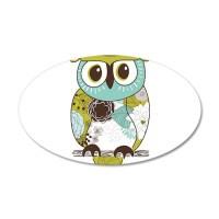 Teal Green Owl Wall Decal by WorldofAnimals