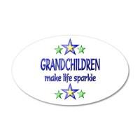 Grandchildren Sparkle Wall Decal Sticker by happygiving