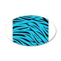 Teal and Black Zebra Stripes Wall Decal by BeachBumFamilyShop