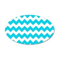 Blue Chevron Wall Decal by FuzzyChair