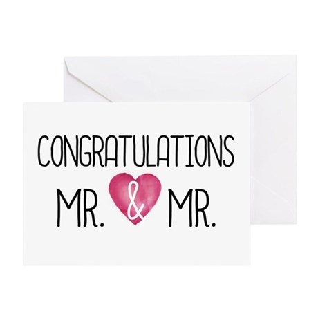 Wedding congrats mr amp mrs greeting cards by micheller