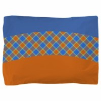 Orange and Blue Pillow Sham by totallyfabulous