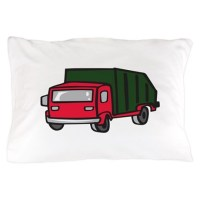 GARBAGE TRUCK Pillow Case by Greatnotions1