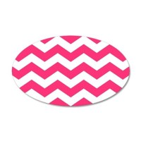 Pink And White Chevron Wall Decal by BeautifulBed
