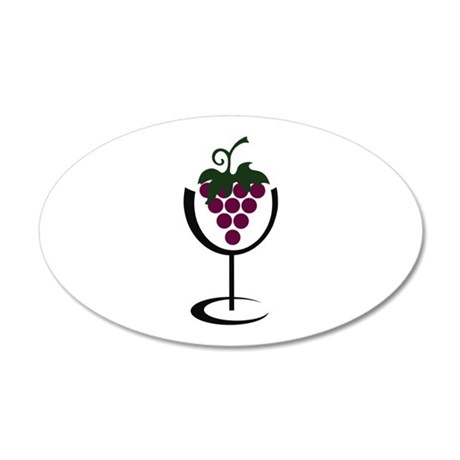 WINE GLASS GRAPES Wall Decal by Greatnotions17