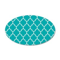 TEAL AND WHITE Moroccan Quatrefoil Wall Decal by BeautifulBed