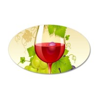 Wine Glass and Grape Vines Wall Decal by WickedDesigns4