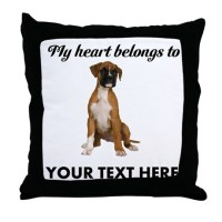Personalized Boxer Dog Throw Pillow by cafepets