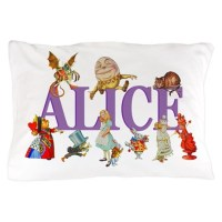 Alice in Wonderland and Friends Pillow Case by ...