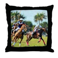 Polo Players and Ponies Throw Pillow by listing-store-51336015