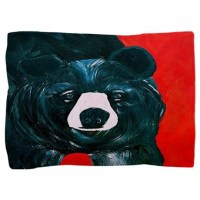 Black bear Pillow Sham by bythebeach