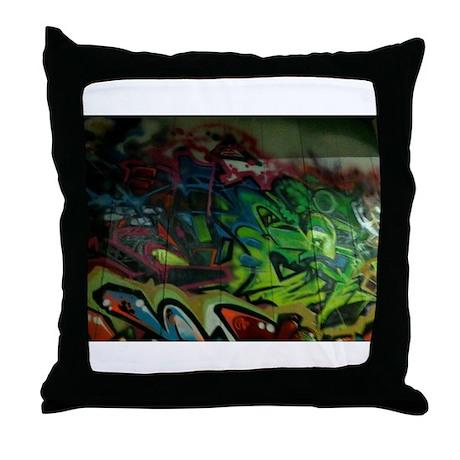 Graffiti Throw Pillow By Admin Cp75933496
