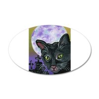 Black Cat Decal Wall Sticker by carlaspetportraits
