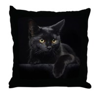 Black Cat Pillows, Black Cat Throw Pillows & Decorative ...