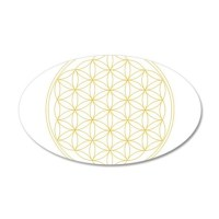 Flower of Life Gold Line Wall Decal Sticker by ...