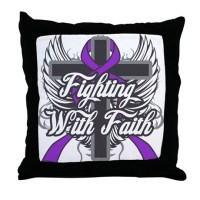 Chiari Malformation Faith Throw Pillow by HopeRibbonsGifts