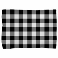 Black White Gingham Pillow Sham by decorativedecor