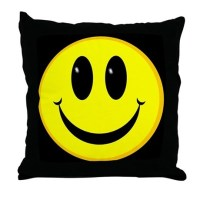 Smiley Face Throw Pillow by elect_burnside
