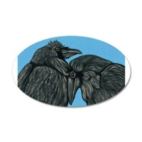 Raven Love Decal Wall Sticker by carlaspetportraits