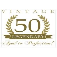 50Th Birthday 50th Birthday Wall Art | 50th Birthday Wall ...