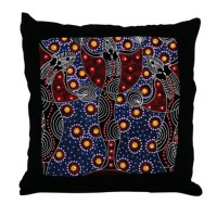 AUSTRALIAN ABORIGINAL FERTILITY ART 2 Throw Pillow by ...