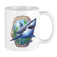 Great White Coffee Mugs | Great White Travel Mugs - CafePress