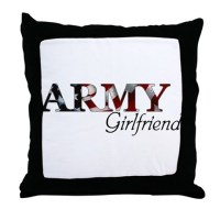 Army Girlfriend Pillows, Army Girlfriend Throw Pillows