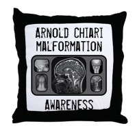 Arnold Chiari Malformation Throw Pillow by cowboy2023