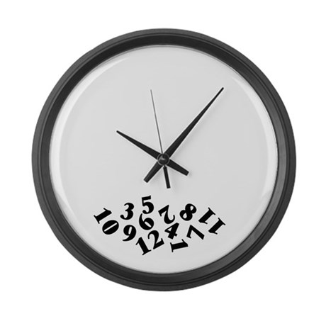 'Fallen Numbers' Large Wall Clock by applepip