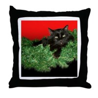Black Cat Christmas Pillows, Black Cat Christmas Throw ...