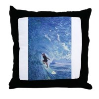 Tube Throw Pillow by surfingbuddhart