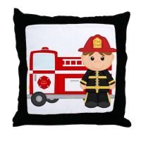 Fire Truck Pillows, Fire Truck Throw Pillows & Decorative ...