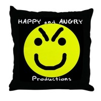 Hangry Face Throw Pillow by happyandangry