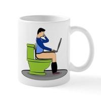 Toilet Bowl Coffee Mugs | Toilet Bowl Travel Mugs - CafePress