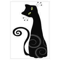 Whimsical Cat Wall Decal
