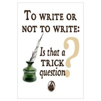 To Write or Not to Write Wall Decal