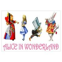 ALICE IN WONDERLAND & FRIENDS Wall Decal