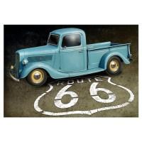 Route 66 Farm Truck Wall Art Canvas Art