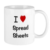I Love Spreadsheets Mug - Office Mug by accountingcelebrity