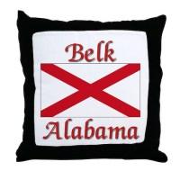 Belk Alabama Throw Pillow by AlabamaTees