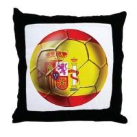 Spanish Futbol Throw Pillow by worldsoccerstore