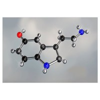 Serotonin Molecule Wall Art   Serotonin Molecule Wall Decor