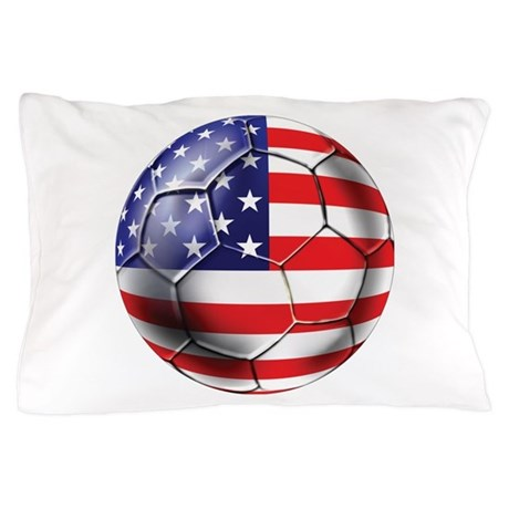 Usa Soccer Ball Pillow Case By Worldsoccerstore