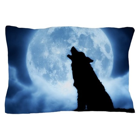 Cries Of The Night Wolf Blanket Cover Pillow Case By