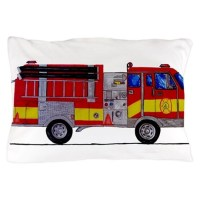Fire Truck Pillow Case by markmoore