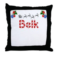 Belk, Christmas Throw Pillow by TheCafeMarket